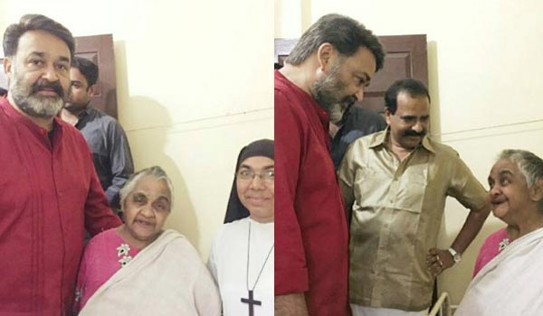 mohanlal-meets-old-women-and-gets-her-blessing