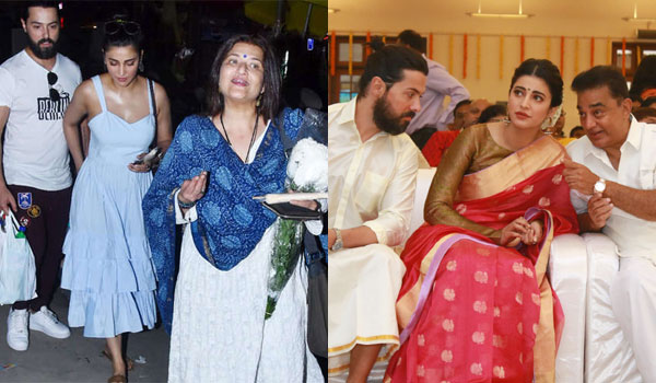 Shruti-attend-Adhav-marriage-with-her-boyfriend-and-Dad-Kamal