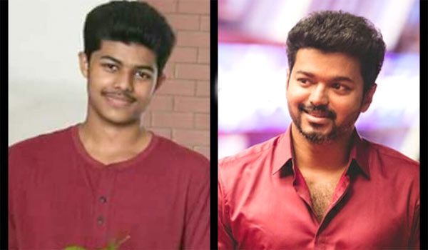 Thalapathy Vijay and son Jason Sanjay