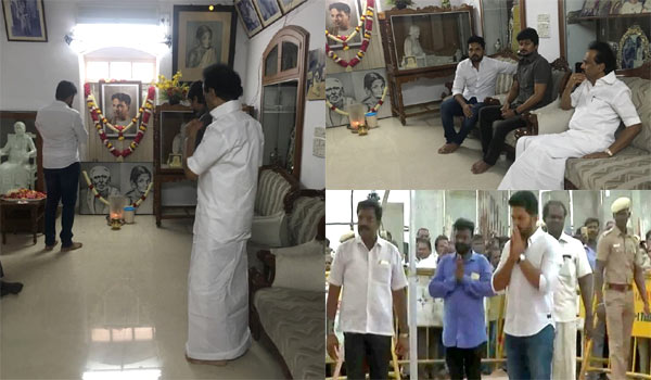 Karthi-pay-respects-to-Karunanidhi