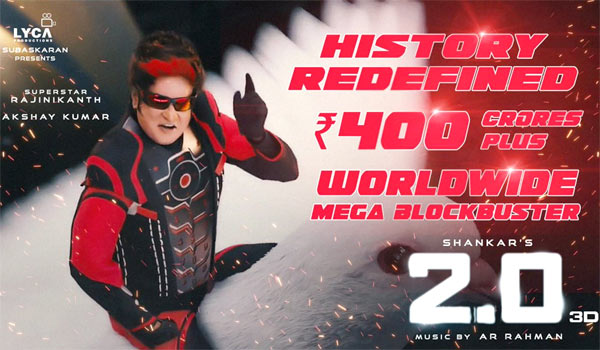 2.0-collects-Rs.400-crore-in-4days-:-Lyca-official-announced