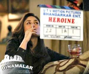 trouble to kareena kapoor for smoking in heroine