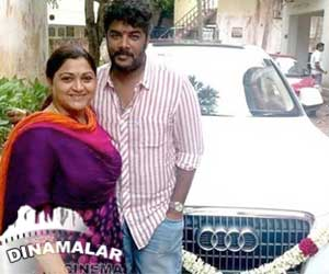 Kushboo gifts Audi car to sundar.c