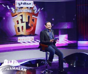 Venkatprabhu host kollywood king program in vijay t.v.,