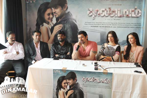 Cine Vila Thaandavam team press meet at london