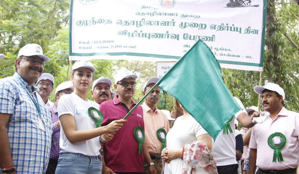Trisha-at-rally-campain-world-day-against-child-labour