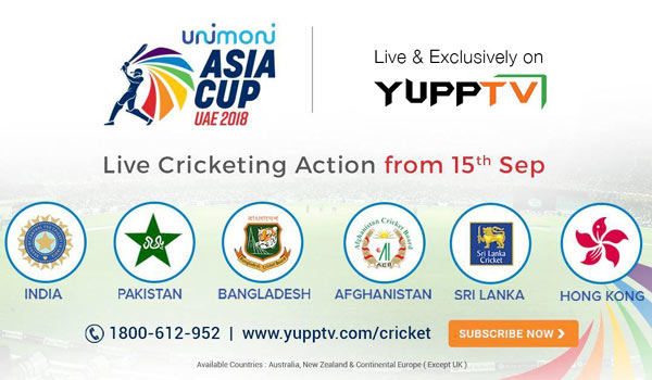 YuppTV-bags-exclusive-digital-rights-for-ASIA-CUP-2018