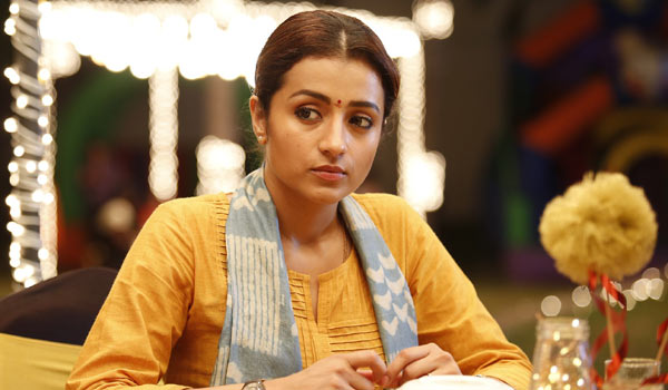 Trisha-oppose-for-96-movie-telecasting-in-Television