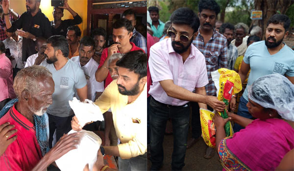 Mohan-helps-to-gaja-cyclone-affected-people