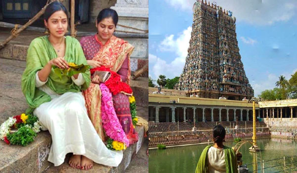 Nivetha-Pethuraj-use-cellphone-in-Meenakshi-Amman-Temple-becomes-controversy
