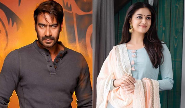 keerthy-completed-first-schedule-with-ajay-devgan-movie