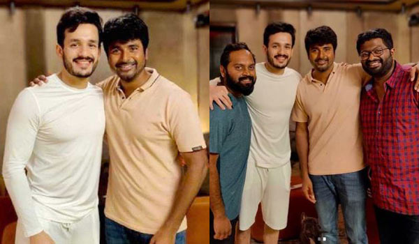 Akhil-give-treat-to-Sivakarthikeyan