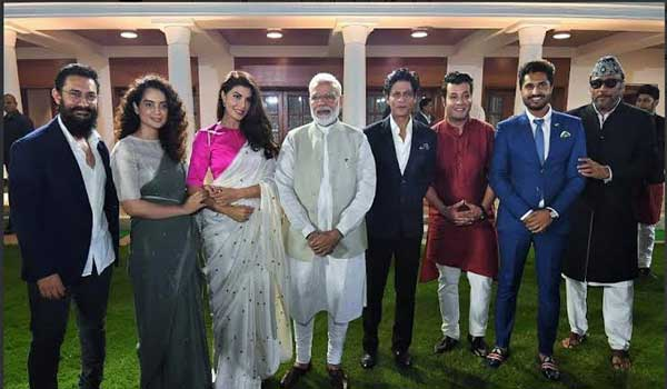 PM-Modi-meets-B-town-stars,-discusses-ways-to-celebrate-Gandhi-150th-birth-anniversary