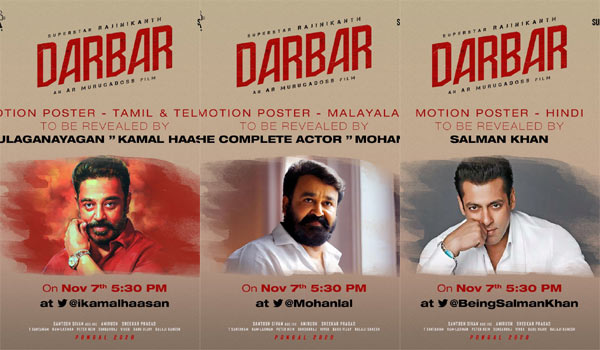 Rajinis-Darbar-Motion-poster-to-release-by-Kamal,-Mohanlal-and-Salmankhan