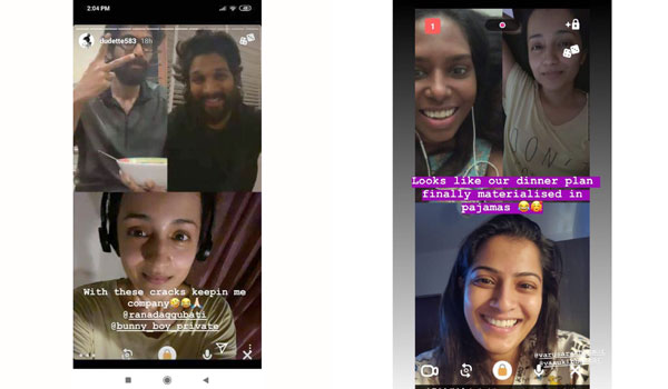 Celebrities-fun-with-video-call