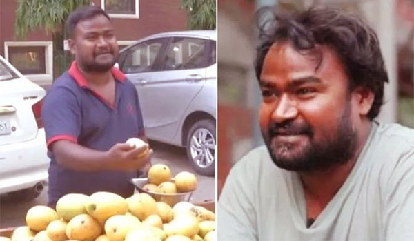 Hindi-actor-solanki-diwakar-selling-fruits-in-street