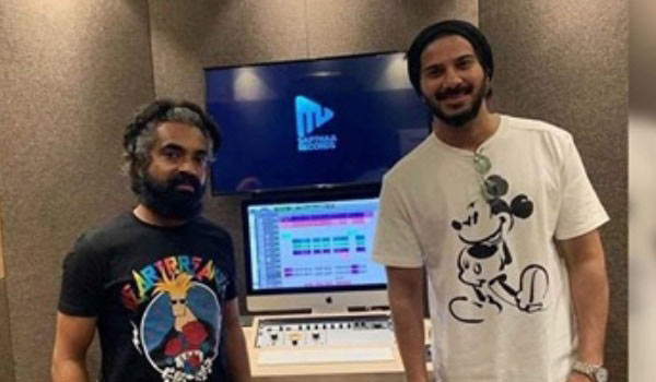 Dulquer-salman-croon-with-comedy-actor