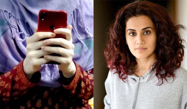 Taapsee-surprise-gift-to-girl-student