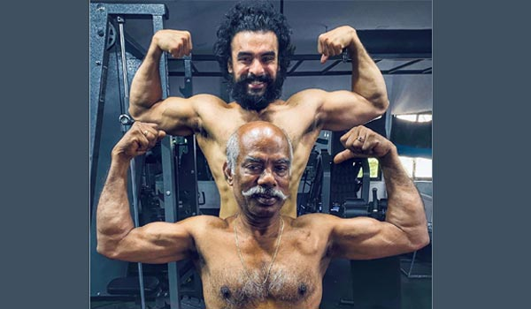 Tovino-thomas-body-building-with-his-father