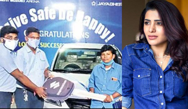 Samantha-gifted-car-to-woman-auto-driver