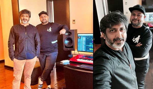 Thaman---Mohanraja-busy-composing-music-in-lucifer-remake
