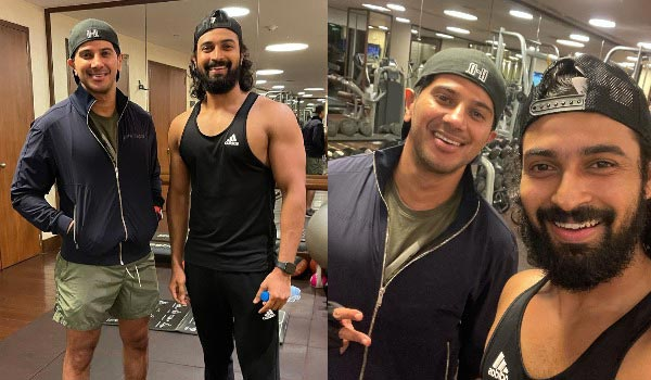 Dulquer-salman-work-out-at-Hyderabad