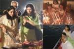 வாளால் கேக் வெட்டி ஸ்ரீதேவி மகள் பிறந்தநாள் கொண்டாட்டம்